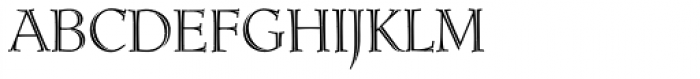 Ruse Monogram Inline (1000 Impressions) Font LOWERCASE