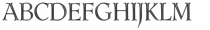 Ruse Monogram Inline (250 Impressions) Font UPPERCASE