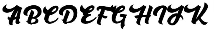Rushing Nightshade Regular Font UPPERCASE