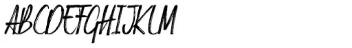 Russell Brush Alternative Italic Font UPPERCASE