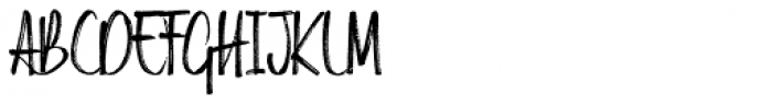 Russell Brush Alternative Font UPPERCASE