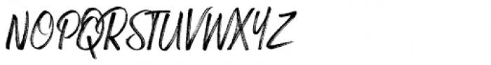 Russell Brush Italic Font UPPERCASE