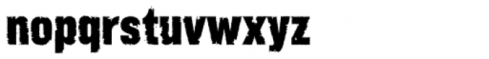 Rust Bucket Font LOWERCASE