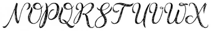 Rusted Brushpen Font UPPERCASE