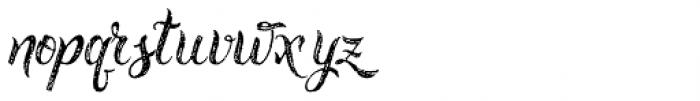 Rusted Brushpen Font LOWERCASE