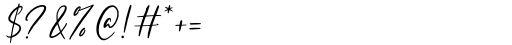 Rustgia Regular Font OTHER CHARS