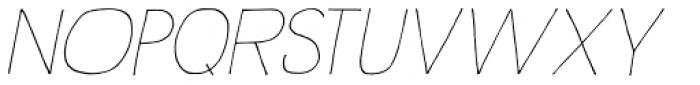 Rustick Thin Italic Font UPPERCASE