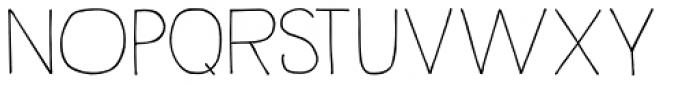 Rustick Font UPPERCASE