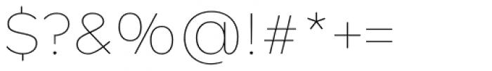 Rutan Thin Font OTHER CHARS
