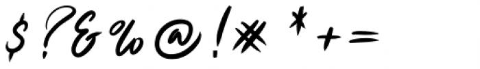 Ruthen Back Regular Font OTHER CHARS