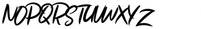 Ruthen Back Regular Font UPPERCASE