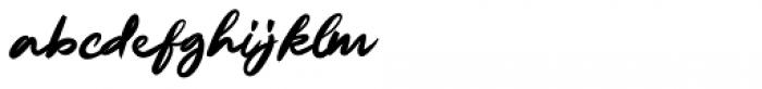 Ruthen Back Regular Font LOWERCASE