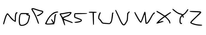 RVn Font of Doom 1 Regular Font UPPERCASE