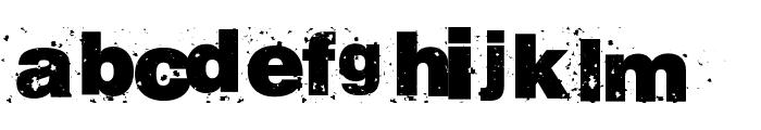 RvD_BETON13 Font LOWERCASE