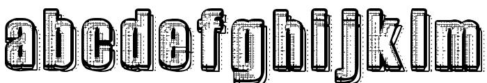 RvD_PRINTPLATE Font LOWERCASE