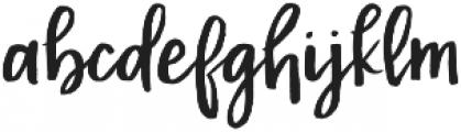 RWA Malibu Punch otf (400) Font LOWERCASE