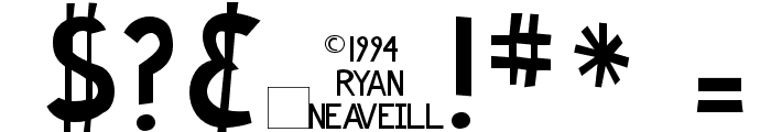 Ryan's Rotten Writing Font OTHER CHARS