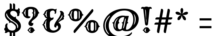 Rye Regular Font OTHER CHARS
