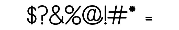 Rythmus Regular Font OTHER CHARS