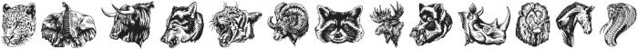 S&S Hilborn Illustrations Two otf (400) Font UPPERCASE