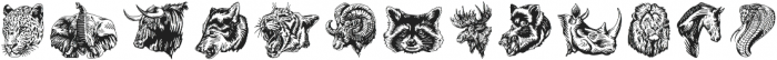 S&S Hilborn Illustrations Two otf (400) Font LOWERCASE
