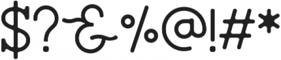 SAILOR Medium otf (500) Font OTHER CHARS