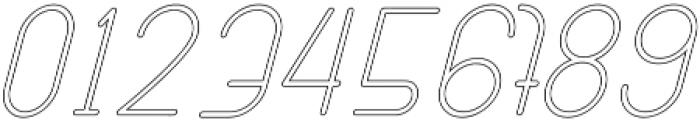 SANSI Outline Italic otf (400) Font OTHER CHARS