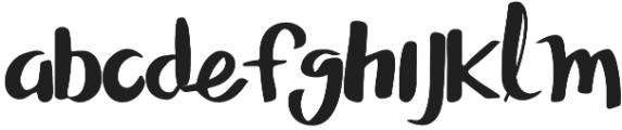 SASHA SCRIPT otf (400) Font LOWERCASE