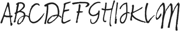 Sabbatical Regular otf (400) Font UPPERCASE