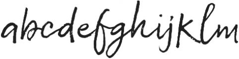 Sabbatical Regular otf (400) Font LOWERCASE