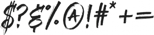 Sabotaged Regular otf (400) Font OTHER CHARS