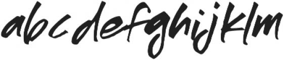 Saboteur otf (400) Font LOWERCASE