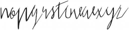 Sabreena Signature Script otf (400) Font LOWERCASE