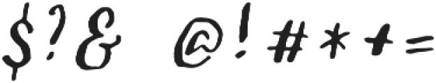Sachie Script Regular otf (400) Font OTHER CHARS