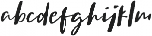 Sachie Script Regular otf (400) Font LOWERCASE