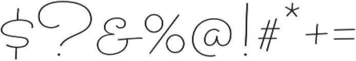 Sacramento Pro Slim otf (400) Font OTHER CHARS