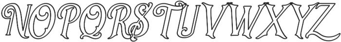 Sacred Bridge Outline Italic otf (400) Font UPPERCASE