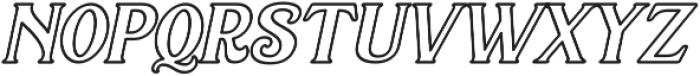 Sacred Bridge Outline Italic otf (400) Font LOWERCASE