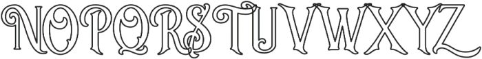 Sacred Bridge Outline otf (400) Font UPPERCASE