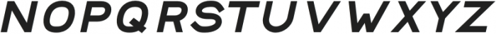 Safeway Black Extended Italic otf (900) Font LOWERCASE