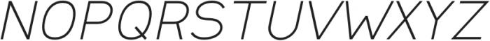Safeway Extended Italic otf (400) Font UPPERCASE