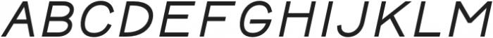 Safeway Medium Extended Italic otf (500) Font LOWERCASE