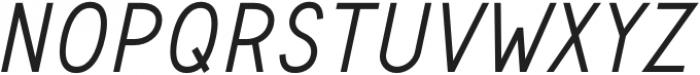 Safeway Medium Italic otf (500) Font UPPERCASE