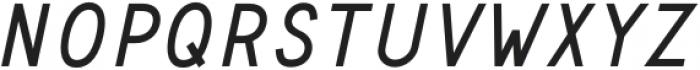Safeway Medium Italic otf (500) Font LOWERCASE