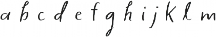 Sage & Pink Plain otf (400) Font LOWERCASE