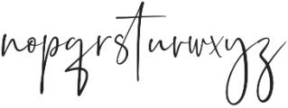 Sagitarius Signature Font Regular otf (400) Font LOWERCASE