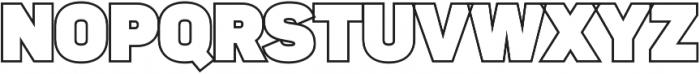 Sahar Heavy-Outline ttf (800) Font UPPERCASE