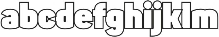 Sahar Heavy-Outline ttf (800) Font LOWERCASE