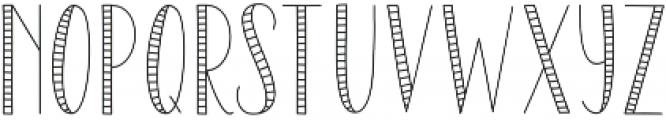 SailorStripes Medium otf (500) Font UPPERCASE