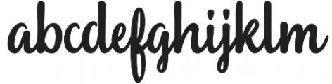 Sailoria Regular otf (400) Font LOWERCASE